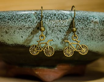 Small Bicycle Earrings, FREE SHIPPING