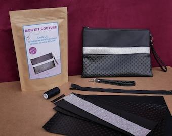 black evening bag sewing kit