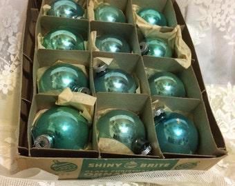12 Shiny Brite  Ornaments