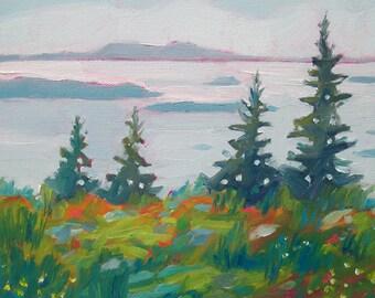 Maine Coastal Landscape - Paper - Canvas - Wood Block