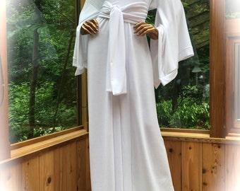 White French Terry Kimono with Wide Sash