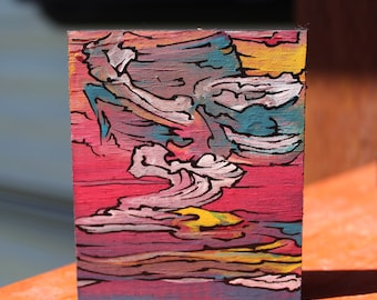 Small Abstract Painting: Away We Go