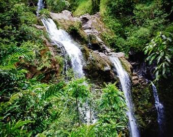 Waterfalls - Tropical - Waterfalls - Maui - Hawaii - Hawaii Photo - Home Decor - Travel Photo - Tropical Waterfalls - Office Decor -