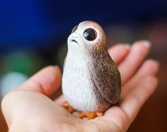 Porg Star Wars -  Toy Mini-figure Handmade -  Souvenir - The Last Jedi - Star Wars Gift for Geeks - Polymer Clay Sculpture