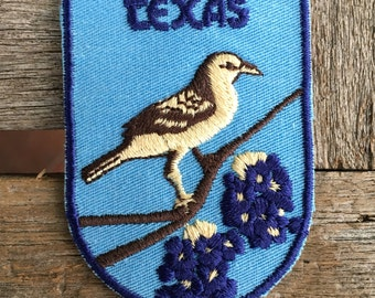 Texas Travel Souvenir Patch from Voyager