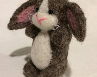 Needle Felt Cute Chubby Bunny Rabbit