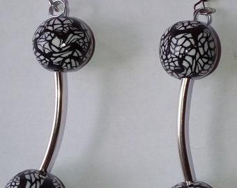 """Earrings """"Kaleidoscope"""" unique 24"""