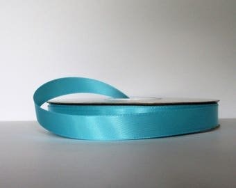 Navajo Turquoise Double Faced 5/8 inch Satin Ribbon 5 yard length Offray Made in USA