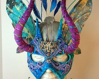 Blue and Purple Masquerade Mask//Masquerade Mask//Mask Masquerade//Masquerade//Mask//Halloween Masquerade Mask//Mardi Gras Masquerade Mask