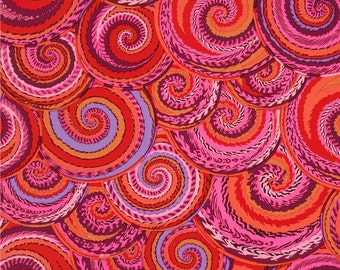 Kaffe Fassett - Curly Baskets Red - 1/2 yard cotton quilt fabric 315