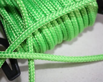 4 mm Braided Polypropylene Cord = 27 Yards = 25 Meters of Elegant Rope Light Green Bulky Yarn Super Bulky Yarn Macrame Cord Macrame Rope