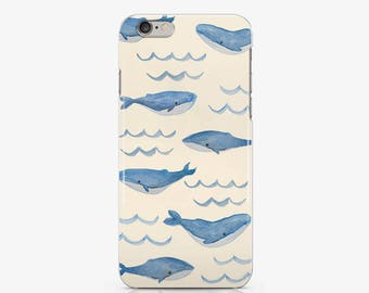 Whale Case Blue Whale Case iPhone SE iPhone 6s Phone Case 6s plus iPhone 7s case to Samaung Galaxy S7 Clear Sea Case Ocean Fish Case AC1020