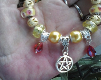 Pagan Wiccan, To honor the God, Euro style bracelet