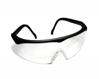 Safety Glasses - Clear Black Frame - 29-011