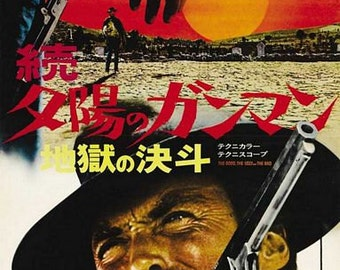 Vintage Japanese The Good The Bad And The Ugly Movie Poster A3 Print