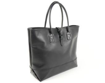 Leather Tote: Black