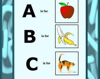 Teaching Materials, Instant Printable, Home School My Little Book Of ABC's, Cut and Paste-PK,K,Special Education, Autism