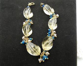 Lemon Quartz Faceted Bracelet