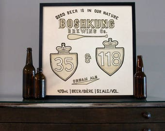 Beer Art - Craft Beer Art - Beer Painting - Boshkung Beer Art