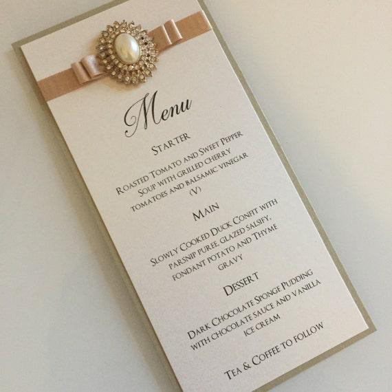 Wedding menu wedding breakfast menus gold wedding menus junglespirit Choice Image