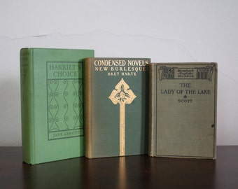 Three Vintage Books - Lady of the Lake, Harriet's Choice, Condensed Novels
