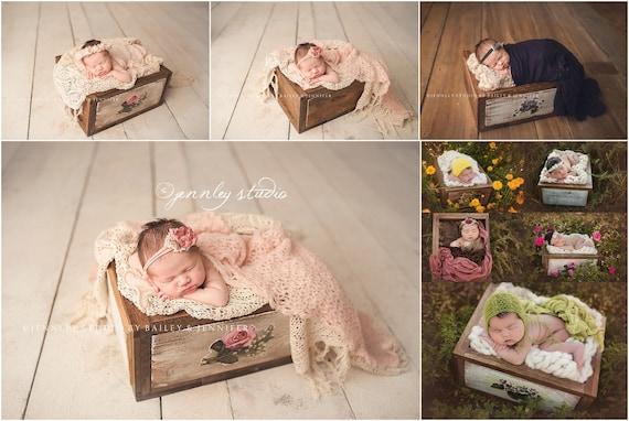 Newborn crate newborn photo prop newborn photography wooden