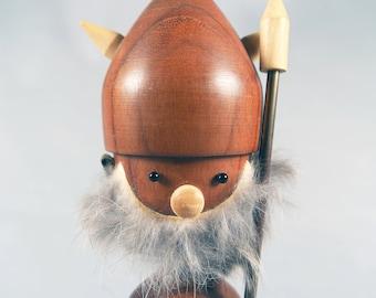 Vintage Teak Viking Figure, Scandinavian Bottle Opener