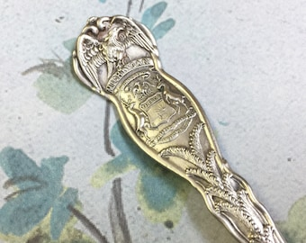 Vintage MICHIGAN State Spoon Handcrafted Silverplate Key Ring Upcycled Silverware Flatware