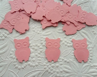 50 Pink Owl Confetti-1 Inch-Scrapbooking-Gift Wrapping-Embellishments-Baby Shower-Girl-Boy-Birthday Party-Punches