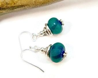 Lampwork Earrings, Glass Bead Earrings, Glass Art Earrings, Unique Earrings, Drop Earrings