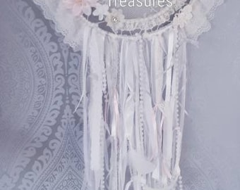 Shabby chic inspired dream catcher
