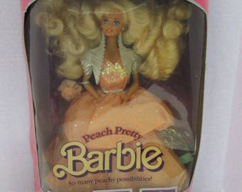 Mattel Barbie Special Limted Edition Peach Pretty doll 1989 #4870 BRAND NEW NRFB