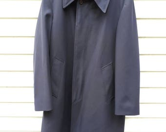 Vintage 1970s London Fog Dark Navy All Weather Overcoat