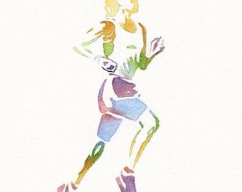 Sports Print, Runner Painting, Runner Wall Art Sport Painting Athlete Print Sport Watercolor Runner Man Woman Boy Girl Runner Sport Wall Art