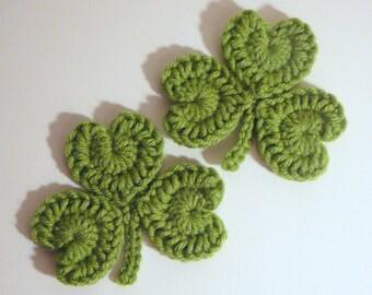 Shamrock Coasters PDF Crochet Pattern INSTANT DOWNLOAD