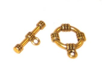 14 x 12mm Antique Gold Toggle Clasp