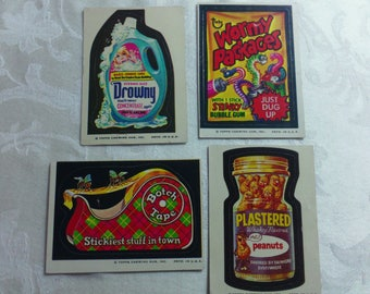 Vintage Wacky Pack Cards from the 1970's set #2