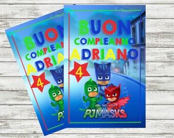 Personalized PjMasks Happy Birthday Mini Poster