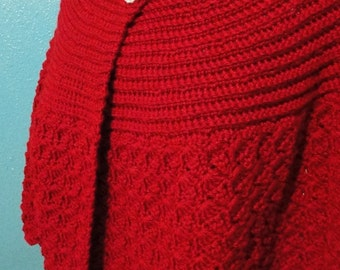 A Easy to make crochet Capelet pattern using medium weight yarn