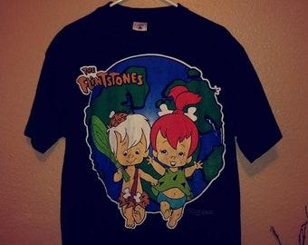 Large Vintage 1994 Flintstones short sleeve T-shirt summer fashion sustainable fashion