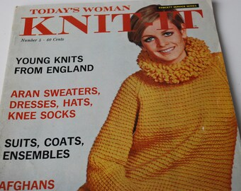 Today's Woman Knit-it  1967's  Vintage  Book