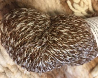 Alpaca Yarn- DK- Brown & White Marled
