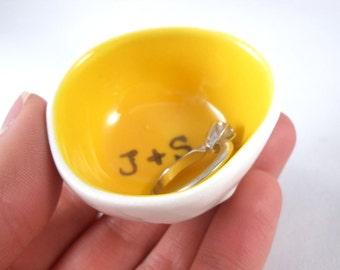 custom xmas gift WEDDING RING DISH / engagement ring holder / bridal shower gift / anniversary gift / custom ring pillow / for her