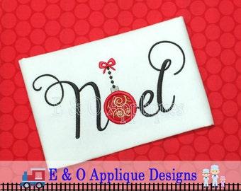 Noel Applique Design - Noel Embroidery Design - Christmas Applique Design - Christmas Embroidery Design - Christmas Ornament Applique Deign