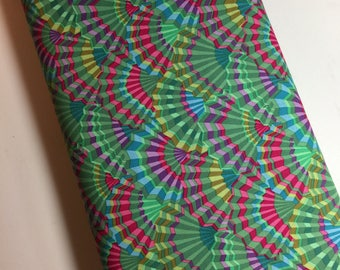 Kaffe Fassett Fabric Phillip Jacobs Fabric -  PWGP 143 Fans   - 100% Quality Cotton OOP and Rare