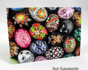 Set of 3 Blank Note Cards, Pysanky Note Cards, Egg Note Cards, Ukrainian Egg Cards, Easter Cards, Ukrainian Stationery, Easter Egg Note Card