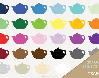 Teapot Vector, Tea Pot Clipart,  Kitchen SVG, Tea Printable, Tea Kettle Print and Cut (Design 11603)