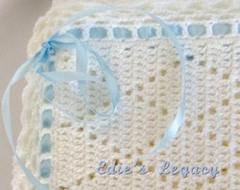 baby blanket, baby shower gift, crochet baby blanket, Christening blanket, crochet baby afghan, baby gift, baby girl, baby boy, baby shower