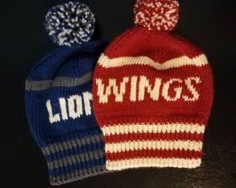 Custom Sports Team Hand-knit Winter Hat