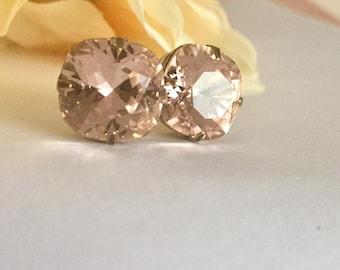 Bridal earrings bridal jewelry blush earrings bridesmaids earrings wedding jewelry bridesmaids wedding jewelry